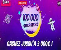 Nouveau jeu Illiko : 100 000 Surprises