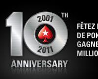 PokerStars fête ses 10 ans, l'occasion de revenir sur ses records