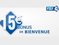15 € de bienvenue jusqu'au 28 septembre chez FDJ.fr