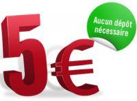 Patrick Bruel et Winamax vous offrent 5 € sans dépôt