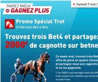 Betnet : 2.000 € à gagner avant ce lundi 9 mai