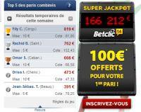 Betclic met en avant le Top 5 des paris combinés sur sa page d'accueil