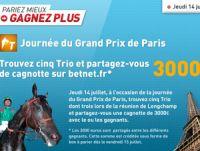 Betnet : jeudi 14 juillet, c'est le Grand Prix de Paris