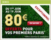 Betnet.fr : 80 € offerts jusqu'au 19 juin et 3.000 € à gagner