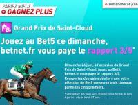Betnet vous paye le rapport 3/5 au Grand Prix de Saint-Cloud