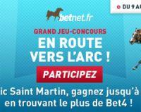 Betnet propose un concours avant le Prix de l'Arc de Triomphe