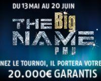 Big Name de PMU Poker : vous êtes la vedette à partir du 13 mai