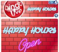 BINGO LIVE®: grâce aux Happy Hours, 500 € minimum à gagner