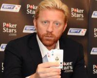 Boris Becker participe à la troisième étape de l'EPT, à Londres