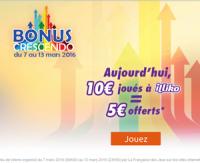 Bonus Crescendo sur FDJ.fr