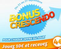 Dernier jour du bonus Crescendo sur FDJ.fr