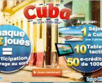 BINGO LIVE vous offre un séjour à Cuba et des tablettes