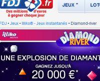 Diamond River sur FDJ.fr, enchaînez les bonnes combinaisons !