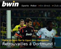 Dortmund-Real Madrid : la victoire allemande à 2,55 sur Bwin