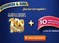 Euro Millions du vendredi 6 juin : un super jackpot à la clé
