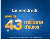 Euro Millions du vendredi 25 février : près de 43 millions € à gagner