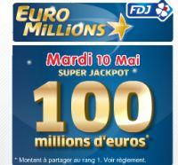 Euro Millions du mardi 10 mai : Super Jackpot de 100 millions d'euros