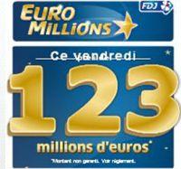 5 grilles offertes pour l'Euro Millions de ce soir à 123 millions