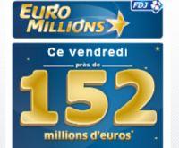 Euro Millions du vendredi 1er juillet : près de 152 millions d'euros ?