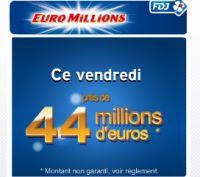 Euro Millions de ce vendredi 22 avril : 44 millions à empocher