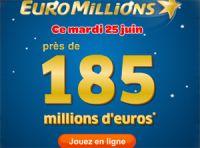 Euro Millions à 185 millions : la 2ème plus importante de son histoire