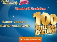 Euro Millions : Super Jackpot ce vendredi 3 octobre 2014