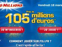 Euro Millions en ligne : jouer ici pour 105 millions (18 mars)