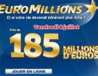 Euro Millions vendredi 8 juillet 2011 : près de 185 millions