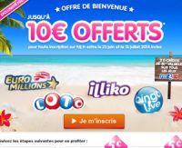 Une cagnotte de 10 €  pour le jeu que vous souhaitez chez FDJ.fr