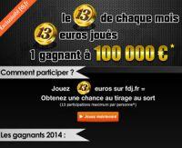 Le 13 de chaque mois est exceptionnel sur FDJ.fr