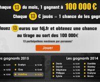 Jouez 13 euros chaque 13 du mois sur FDJ.fr