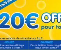 La FDJ vous offre 20 euros lors de votre inscription