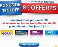 8 euros offerts sur FDJ.fr : comment ça marche ?