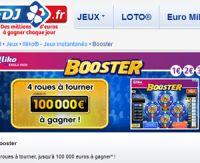 Booster sur FDJ.fr : 4 roues à tourner, 100.000 euros potentiels