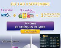 FDJ.fr : des chèques de 500 € à gagner