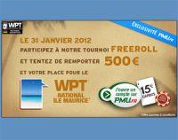 """""""Kuzeo Freeroll"""" sur PMU Poker le 31/01/2012 à 20h40 : 500€ et WPT Maurice"""