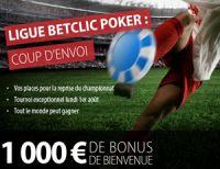 La Ligue BetClic Poker le 1er août et l'ouverture de la boutique VIP