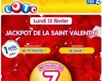 LOTO® de la Saint-Valentin : 1 grille offerte sur FDJ.fr