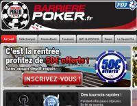 """Un nouveau bonus de 50 euros sur BarrierePoker (code """"cadeau50"""")"""
