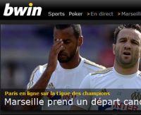OM-Arsenal sur Bwin : 2,90 pour la victoire marseillaise