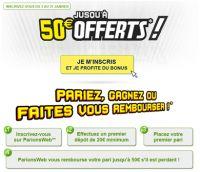ParionsWeb : dépêchez-vous, 50 € offerts jusqu'au 31 mars