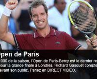 Paris Bercy 2013 : Gasquet, Djokovic, Ferrer et les autres sur PMU