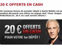 PokerStars offre 20 euros pour votre premier dépôt : comment faire ?