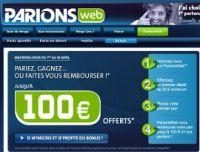 Le 11 août, c'est la reprise du bonus ParionsWeb de 100€