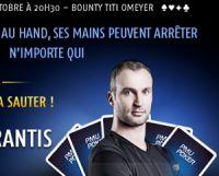 Un bounty Thierry Omeyer à 200€ sur PMU Poker ce jeudi 6 octobre