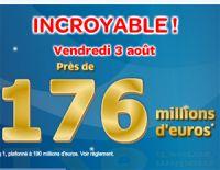 Vendredi 3 août : un Euro Millions à 176 millions