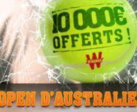 Winamax : 10 000 euros à remporter lors de l'Open d'Australie