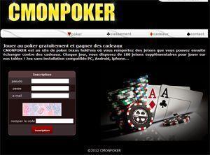 cmonpoker est un site de poker gratuit avec des cadeaux gagner. Black Bedroom Furniture Sets. Home Design Ideas